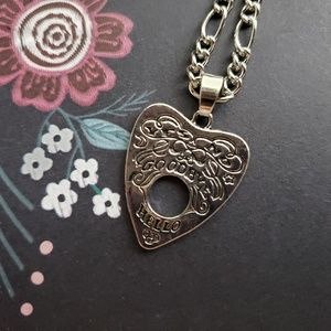 Silver Ouija Board Planchette Necklace